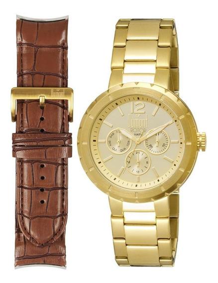 Relógio Masculino Dumont Du6p29abk/4x Kit