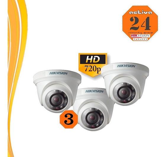 Hikvision Camara 3 Unidades Metalica Hd720p 56cot-irmf