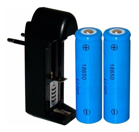 Carregador + 2 Baterias 18650 8800mah Lition 4.2v