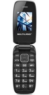 Celular Multilaser Flip Up Dual Chip Mp3 Bluetooth Preto