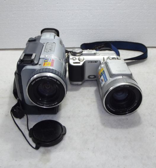 Lote 2 Filmadoras Sony Dcr-trv530 Dsc F717 Defeito