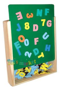 Pizarra Magnética De Madera Letras Y Números Imantados Clap