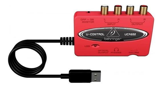 Interface De Áudio Usb Uca222 Behringuer