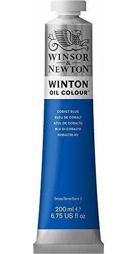 Pintura Al Oleo Winsor Y Newton Winton, Tubo De 200 Ml, Azul