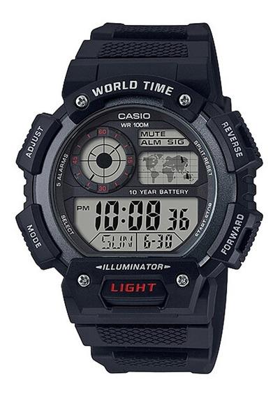 Reloj Casio Hombre Multialarma Uso Rudo Ae-1400-1a |watchito