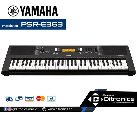 Teclado Yamaha Psr-e363 (incluye Adaptador Original)