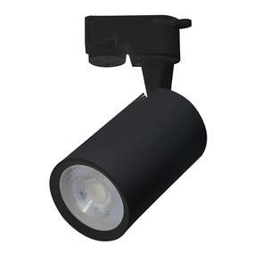 Luminária Spot Preto Para Trilho Eletrificado Branco Quente