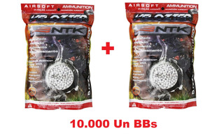 Kit C/ 10.000un Esfera Airsoft Bbs Velozter 0.20g 6mm Ntk