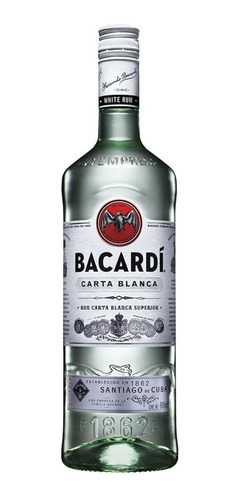 Bacardi Ron Blanco Botella 980ml