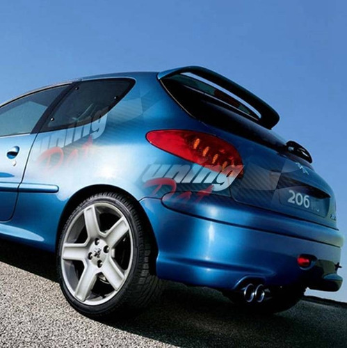 Aleron Peugeot 206(todos)- 207 -  Impresion Gris -
