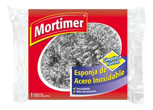 Esponja Acero Inoxidable Mortimer Limpieza Fuerte Resistente