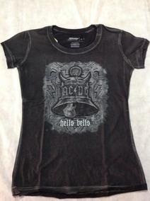 Ac/dc - Hells Bells Baby Look Feminina - Original