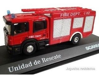 Camión Unidad De Rescate Scania Escala 1/72