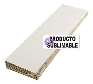 100 Señaladores O Regla Cartón Blanco Sublimable 20x5cm