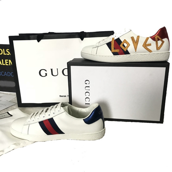 Tenis Gucci Loved Leather Sneaker En Caja Bolsa Factura Eur