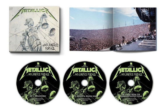 Metallica And Justice For All Deluxe 3 Cd Importado 2018