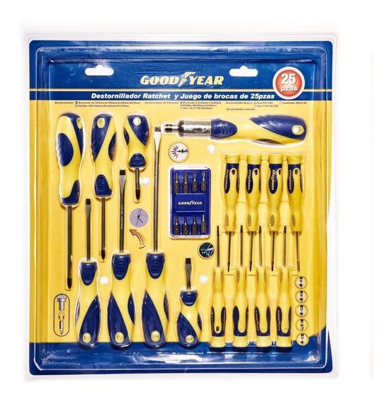 Set Destornilladores Puntas Goodyear Gy-900550 25 Piezas
