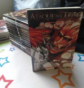 Manga Ataque Dos Titãs Panini 1-13, 20 E 21+ Extras