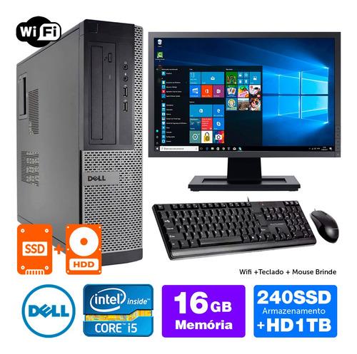Imagem 1 de 5 de Computador Barato Dell Int I5 2g 16gb Ssd240+1tb Mon19w