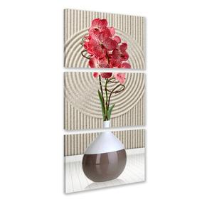 Quadro 120x60 Vaso Flores Salas Quartos Decoração Promoção