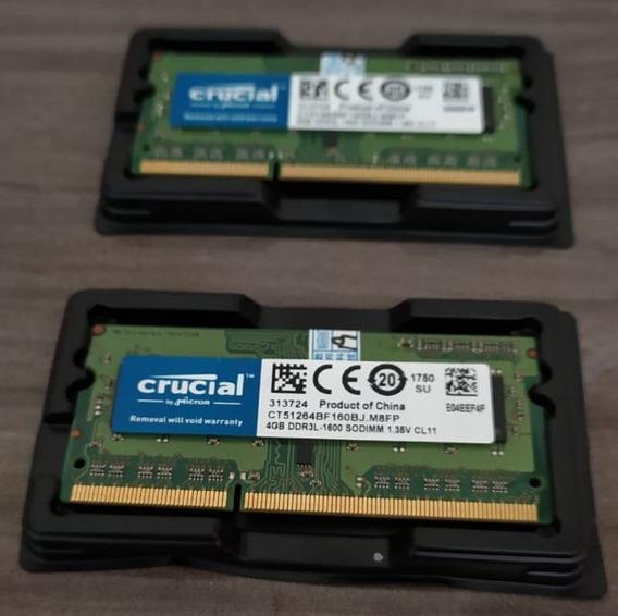 Memória Notebook Crucial 4gb 1600mhz Ddr3l