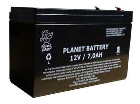 Bateria Selada 12v 7ah Alarme Cerca Elet. Planet Battery