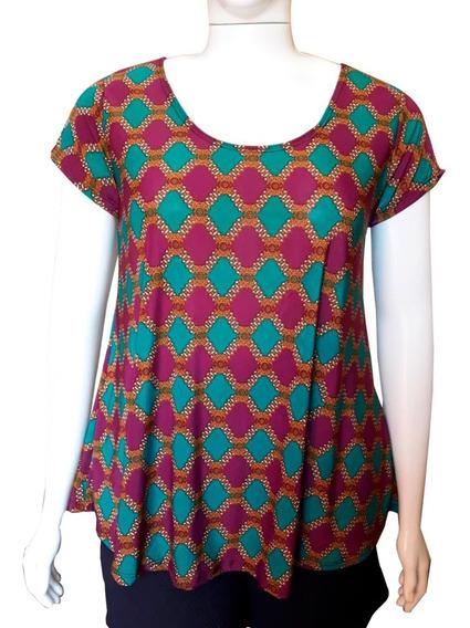 Blusa Feminina Plus Size Camiseta Tamanho Grande Bata Xxl 52