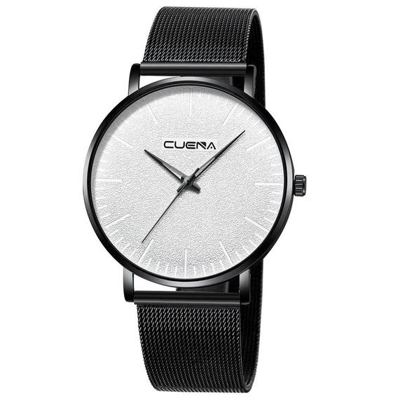 Relógio Masculino Quartzo Luxo Pulseira De Aço Promoção