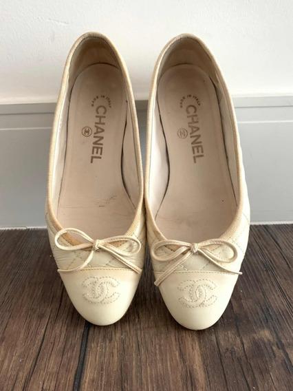 Sapatilha Chanel Original Branca