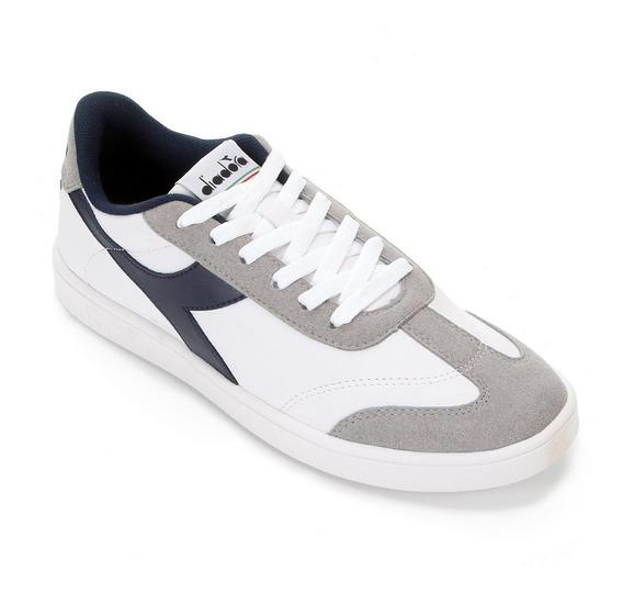 Tênis Diadora Step Masculino - Branco E Azul N°42