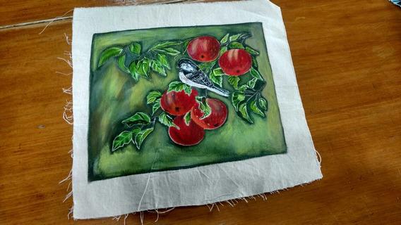 Cuandro Pajaro En Fruta