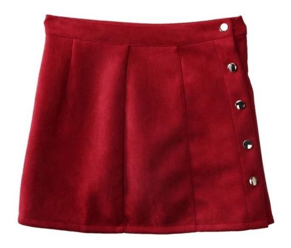 Falda Roja Vintage Moda Mujer Suave Envio Gratis