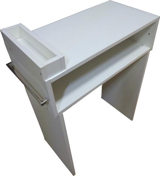 Mesa Manicure 60cm Com Alças E Compartimento