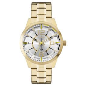Relógio Technos Masculino Dourado 2315kzw/4d Technos