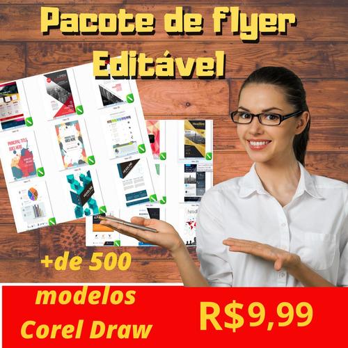 Pack De Flyer Editáveis Em Corel Draw
