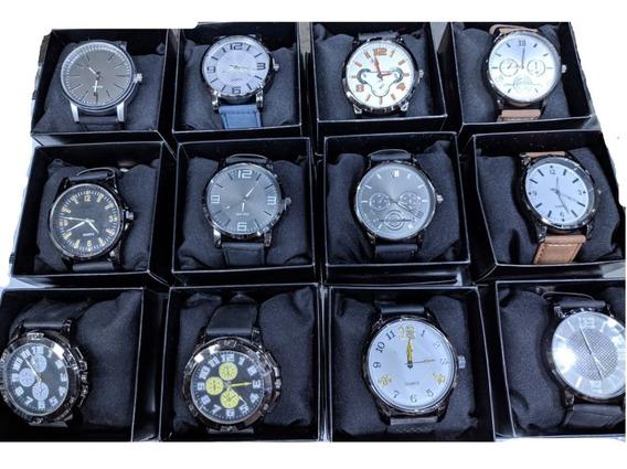Kit 12 Relógios Masculinos + Caixinha + Revenda