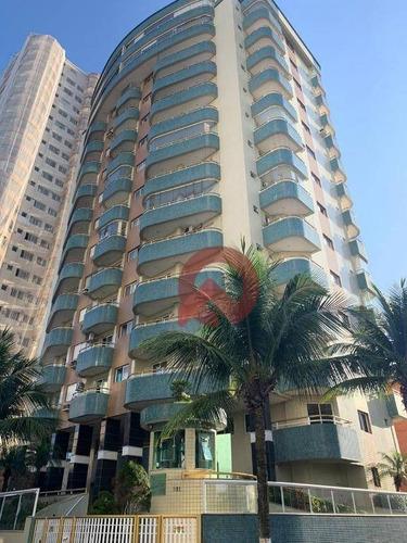 Apartamento Com 1 Dormitório À Venda, 55 M² Por R$ 220.000,00 - Tupi - Praia Grande/sp - Ap3310