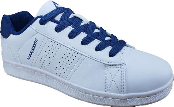 Le Coq Sportif Sculi Jr Original Cosida Bco/azul Colegial