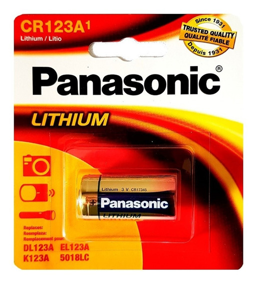 Bateria Pilha Cr123a 3v Lithium Photo Panasonic Original