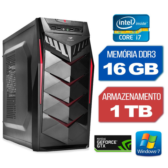 Computador Gráfico Intel Core I7 16gb 1tb Gtx 750 Windows 7