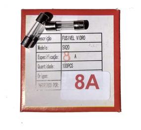 Fusível De Vidro 8a 250v 5x20 Caixa 100peças