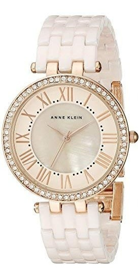 Reloj De Mujer Anne Klein De Eslabones De Cerámica Con Vidri