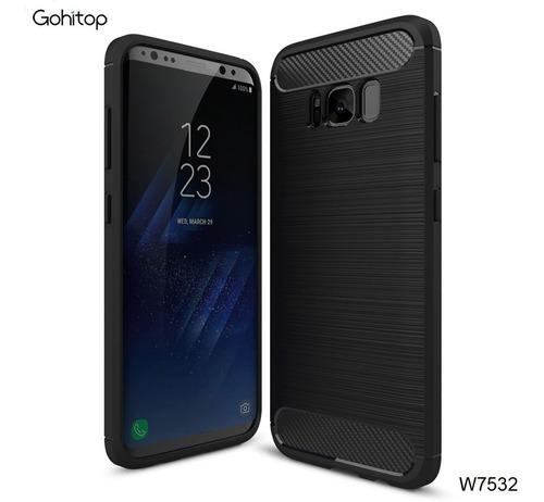 Imagen 1 de 9 de Estuche Protector Fibra De Carbono iPhone X Samsung S9+ S8+