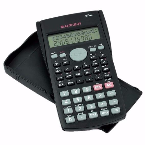 Calculadora Cientifica 2 Linha 240 Funções + Capa Kit 10 Pçs