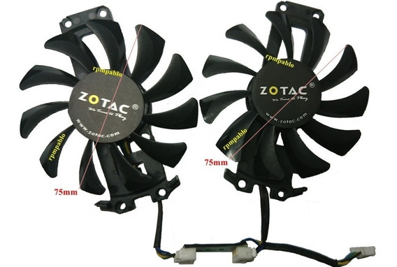 Dual Fan Placa De Video Zotac 75mm (furação Retangular)