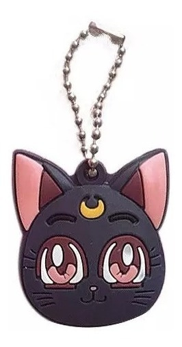Sailor Moon - Llavero Porta Llaves Luna Neko Kawai