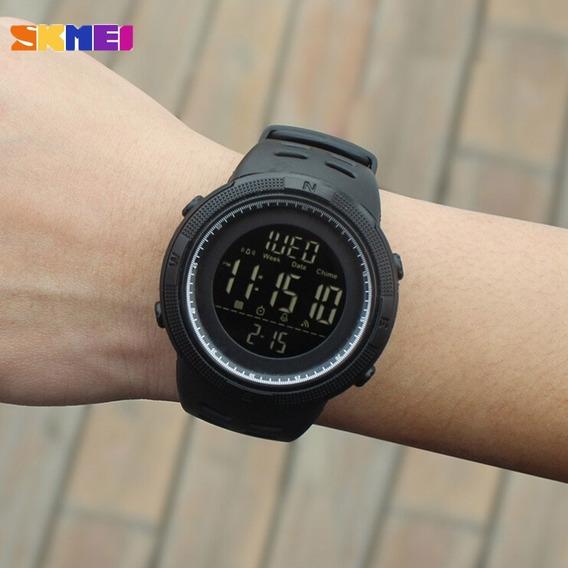 Relógio Militar Masculino Digital Skmei 1251 - Preto