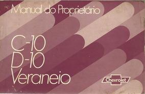Manual Proprietário C10 D10 Veraneio 1981-1982-1983 *dgt*