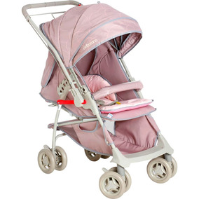Carrinho De Bebê Galzerano Maranello Ii - Cinza/rosa