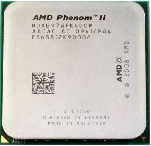 Processador Amd Phenom Ii X4 B97 Am2+am3 Quad Core + Cooler Universal